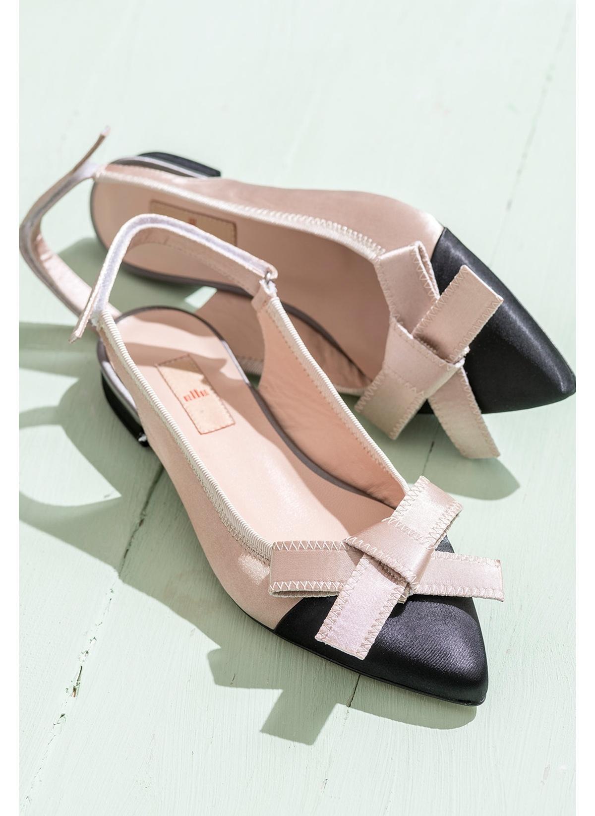Elle Kısa Topuklu Ayakkabı